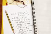 Design calculation — Stock Photo