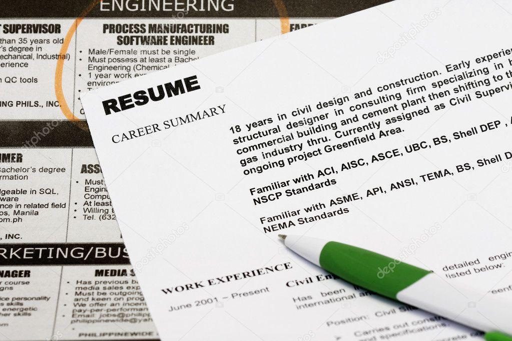 resume stock photo fiftycents 2336477