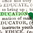 Stock Photo: Education Word Dictionary Term