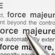 Force Majeure — Stock Photo