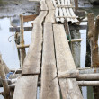 Royalty-Free Stock Photo: Makeshift bridge made of bamboo and wood