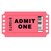 Isolated Admit One Ticket — Stock Photo
