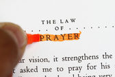 The law of prayer — Stock Photo