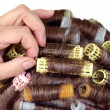 Stock Photo: Hair roller curlers
