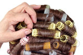 Hair roller curlers — Stock Photo