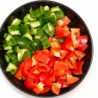 Sweet red and green peppers — Stock Photo