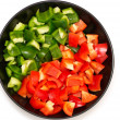 Stock Photo: Sweet red and green peppers