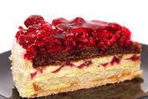 Raspberry cake close-up — Stock Photo