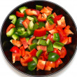 Red and green pepper — Stock Photo