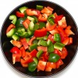 Stock Photo: Red and green pepper