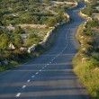 Asphalt winding road — Stock Photo