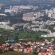 Aerial view of Zagreb — Stock Photo