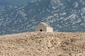 Ruins of an old church on Pag islands — Stock Photo