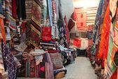 Arabic carpet shop — Stock Photo