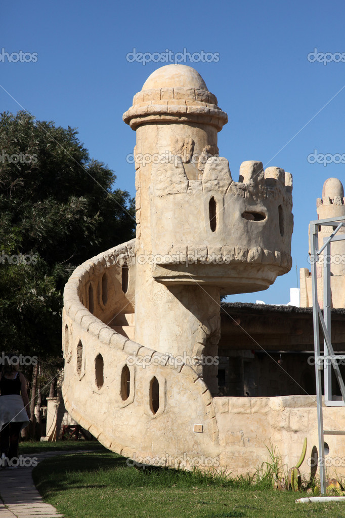 Modern touristic fort, Tunisia — Stock Photo #2053125