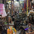 Stock Photo: Antiques shop in the souq of the Muslim Quarter in the Old City October 3, 2006 in Jerusalem
