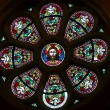 Marija Bistrica-Jesus in stained glass - Stockfoto