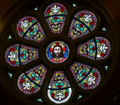 Marija Bistrica-Jesus in stained glass — Stock Photo