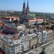 Zagreb panorama with cathedral — Stock Photo