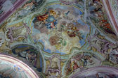 Fresco on the ceiling of the church — 图库照片