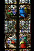 Stained glass in Zagreb cathedral — Stock Photo