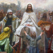 Jesus on Palm Sunday - Foto Stock