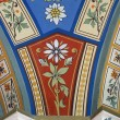 Painted medieval fresco pattern - 图库照片