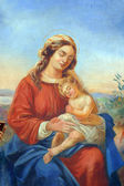 Blessed Virgin Mary with baby Jesus — Stock Photo