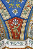 Painted medieval fresco pattern — Stock Photo