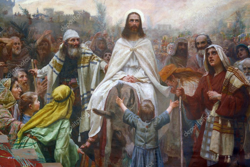 Jesus on Palm Sunday — Stock Photo #2619230