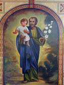 Saint Joseph with child Jesus — Stock Photo