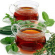 Tea with herbs — Stock Photo