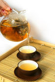 Tea drinking — Stock Photo