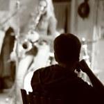 Listening jazz — Stock Photo