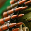 Stock Photo: Cartridges for machine gun