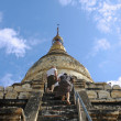 Stock Photo: Way to Buddhist temple. Burma