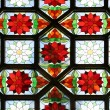 Foto Stock: Stained-glass window