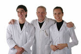 Teacher with medical students — Stock Photo