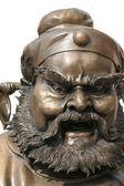 Statue of furious man — Stock Photo