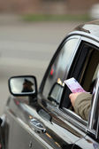 Bribe on road.The Russian reality — Stock Photo