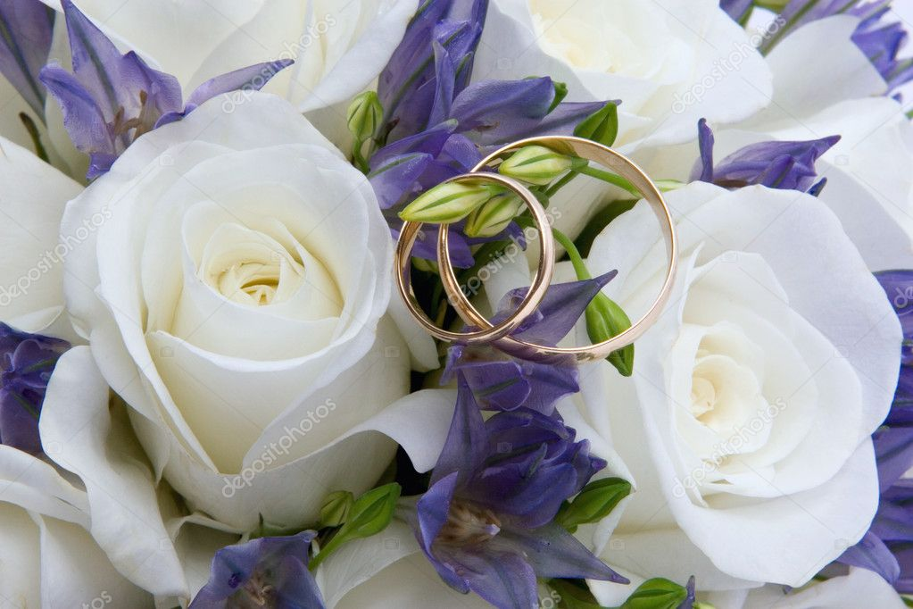 Wedding rings and roses  Stock Photo #2244635