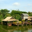 Houses on stilts.Cambodia. — Stock Photo
