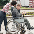 Man in a wheelchair — Stock Photo