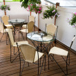 Foto Stock: Summer cafe terrace