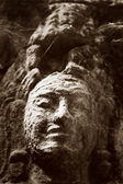 Ancient bas relief in Angkor Vat — Stock Photo