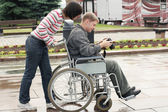 Man in a wheelchair — Stockfoto