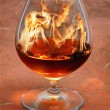 Royalty-Free Stock Photo: Snifter glass of cognac