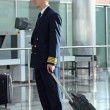 Stock Photo: Air steward at airport