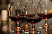 Glasses of brandy — Stock Photo