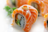 Sushi with salmon and lobster — Stock Photo
